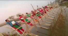 খাজরায় বাঁশের সাঁকোর উপর ভরসা ৩টি বিদ্যালয়ের শিক্ষার্থীদের