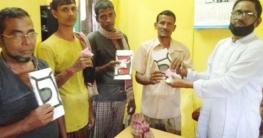 তালায় করোনা সচেতনতায় মাস্ক, সাবান, লিফলেট বিতরণ
