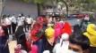 রাজধানীর বিভিন্ন স্থানে বেতনের দাবিতে পোশাক শ্রমিকদের বিক্ষোভ