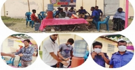 তালায় স্মার্ট কার্ড বিতরণ কেন্দ্রে ভিন্নধর্মী নির্বাচনী প্রচারণা