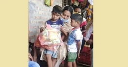 দেবহাটায় আলোচিত ইজিবাইক চালক মনিরুলের বাড়ীতে জি.এম স্পর্শ