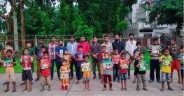 শেখ রাসেলের জন্মদিনে শিক্ষা উপকরণ দিল সাতক্ষীরা জেলা ছাত্রলীগ