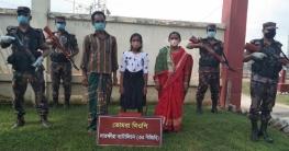 বাংলাদেশ সীমান্তে অনুপ্রবেশে নারী ও শিশুসহ তিনজন আটক