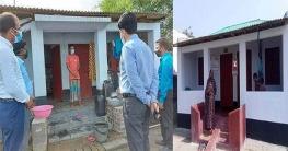 কালিগঞ্জে গৃহহীনদের নির্মিত ঘর পরিদর্শন করেন জেলা প্রশাসক