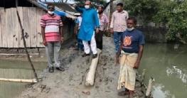 শ্যামনগর বুড়িগোয়ালীনীতে রাস্তা পরিদর্শনে উপ: চেয়ারম্যান